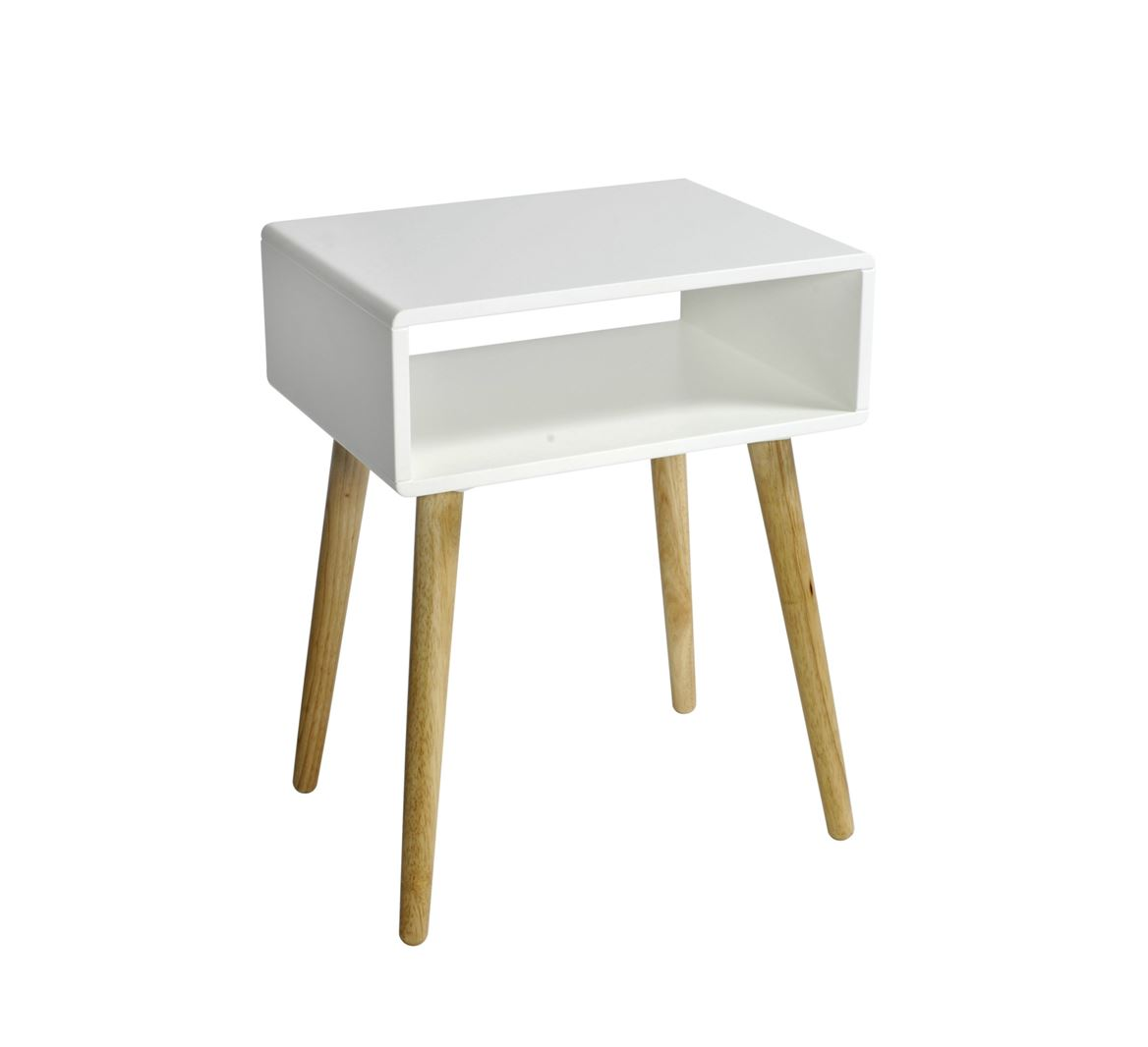 Table De Chavet Oliver Table De Nuit Blanc H 52 X Larg 40 X Long 30 Cm