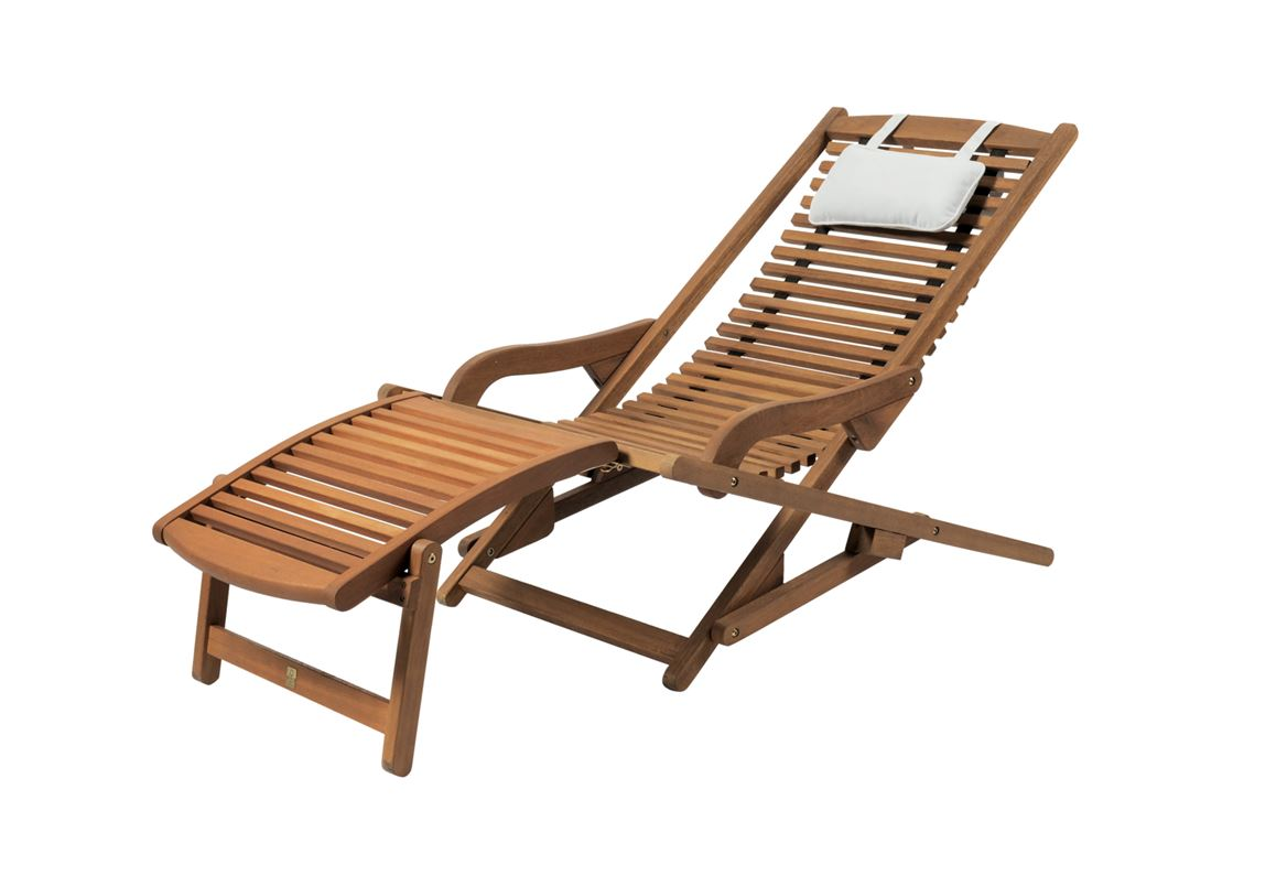 Chaise Transat New Vip Chaise Relax Naturel H 72 X Larg 61 X Long 104 Cm