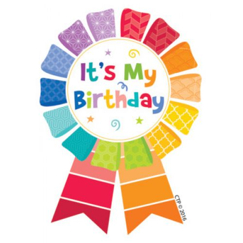 Happy Birthday Ribbon Reward Badges, CTP1066