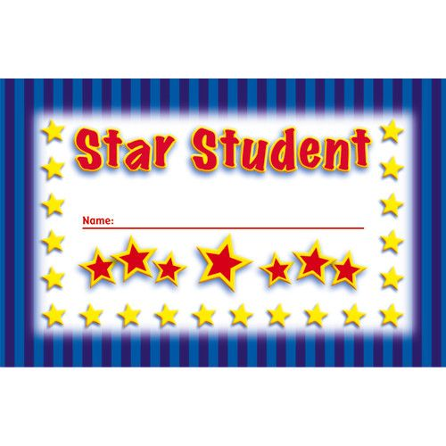 Star Student Incentive Punch Cards, NS-2402 - punch cards