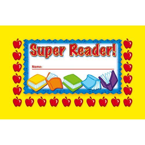 Super Reader Incentive Punch Cards, NS-2403 - punch cards