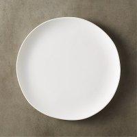 Crisp White Ceramic Dinner Plate | CB2