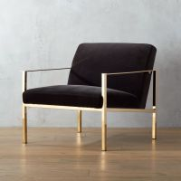 cue chair with brass legs | CB2