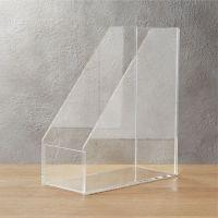 format acrylic magazine holder | CB2