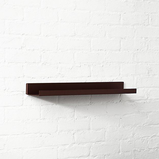 Metal Bronze Wall Shelf 24quot Cb2
