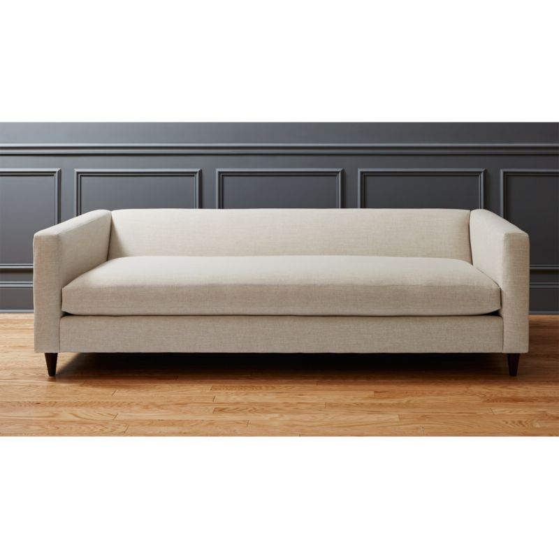 Sofa Fabric Hs Code Movie Deep Linen Sofa + Reviews | Cb2