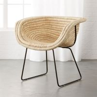 Natural Basket Chair + Reviews | CB2