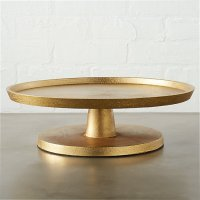 Tectonic Gold Cake Pedestal | CB2