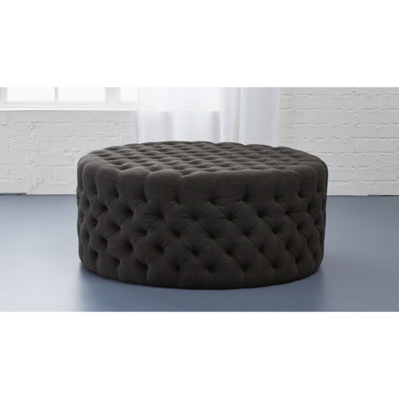 Sofa Fabric Hs Code Tufted Ottoman + Reviews | Cb2