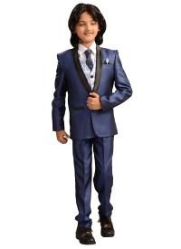 Buy Navy Blue Viscose Kids Suit, boys-suits Online ...