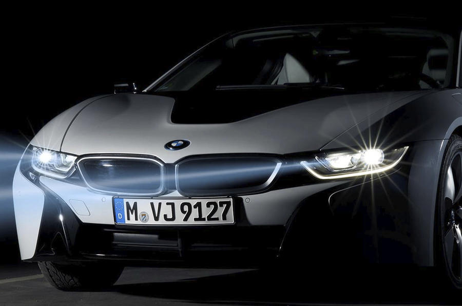 Wallpaper Mobil Sport Hd Bmw I8 Will Be First To Offer New Laser Lighting Tech