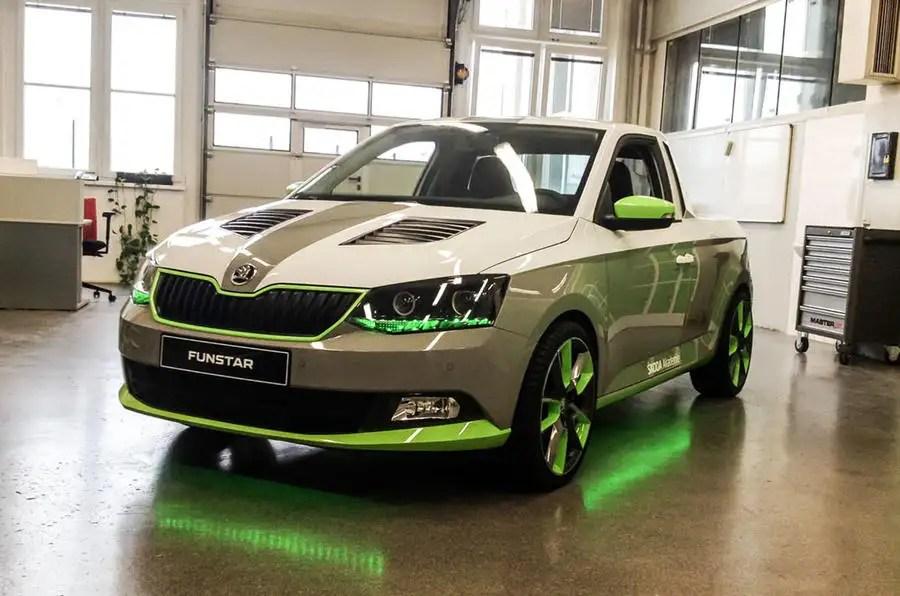 Nova Car Wallpaper Skoda Unveils Fabia Funstar Pickup Concept Car Autocar