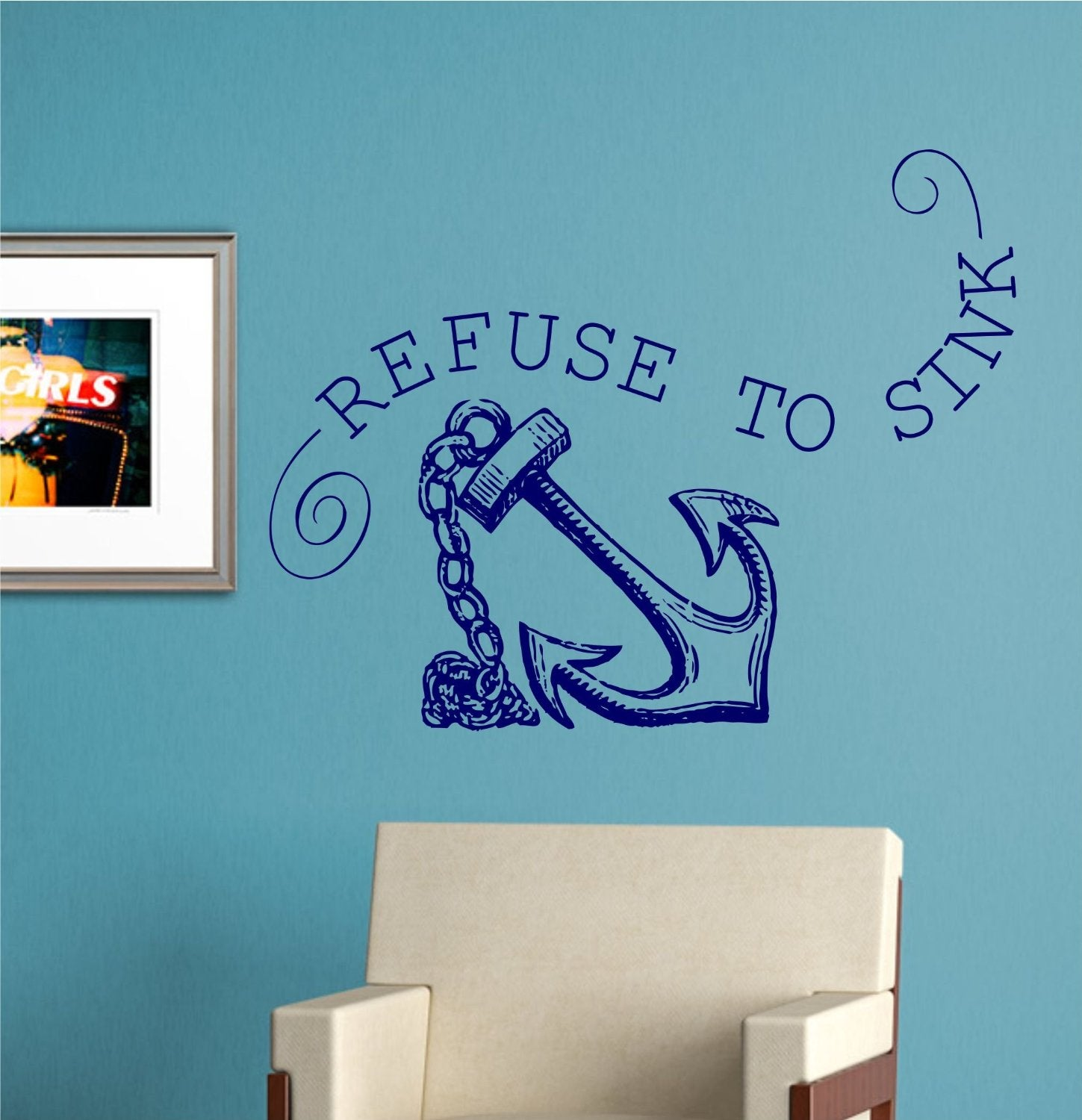 refuse sink quotes quotesgram hepburn quote decal vinyl wall sticker art celebrity famous ebay
