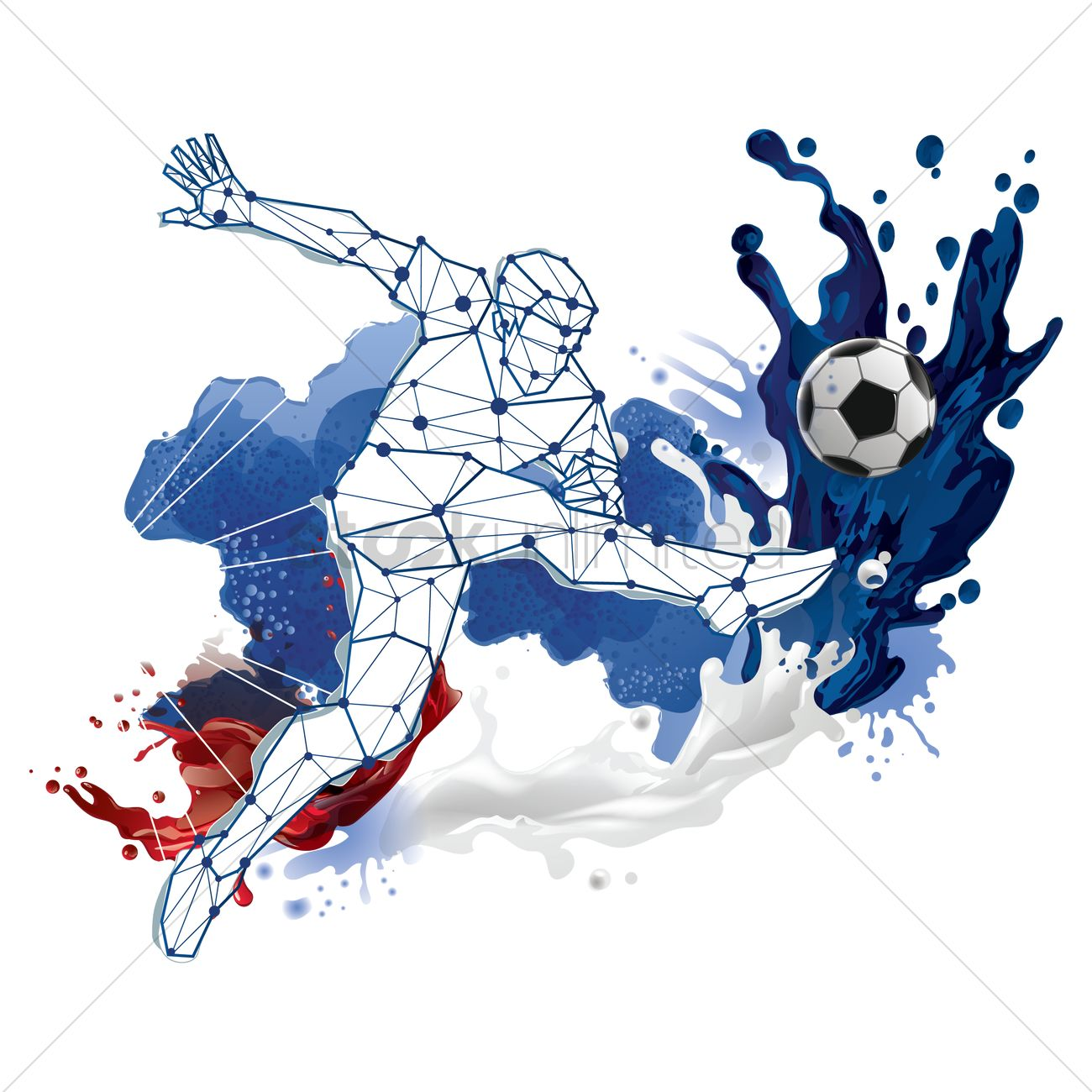 3d Liquid Abstract Wallpaper Abstract Soccer Player Design Vector Image 1818055