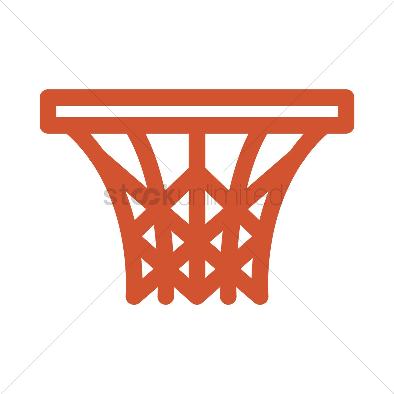 Basketball Ring Target Basketball Hoop Vector Image 1992843 Stockunlimited