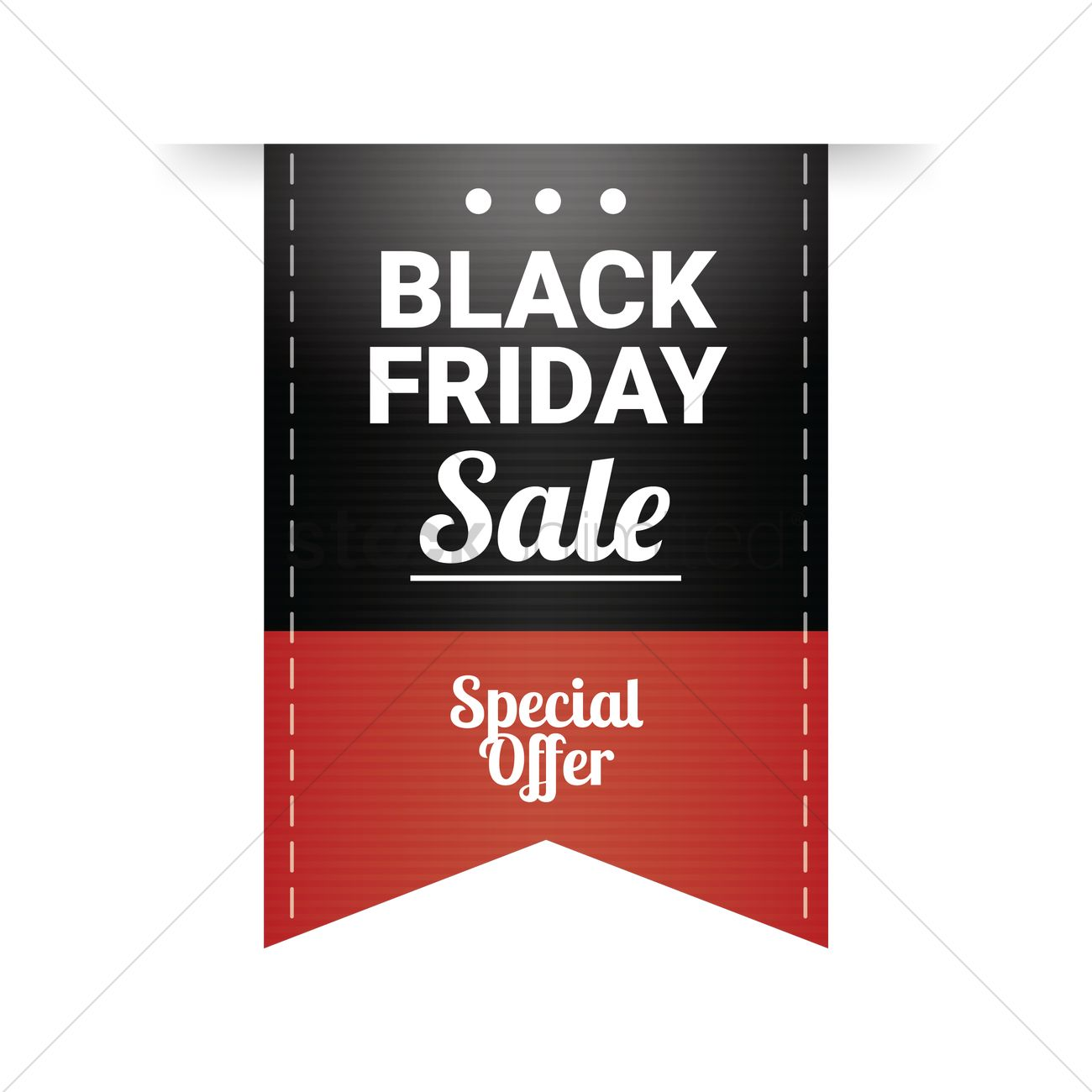 Black Sale Black Friday Sale Tag Vector Image 1583711 Stockunlimited