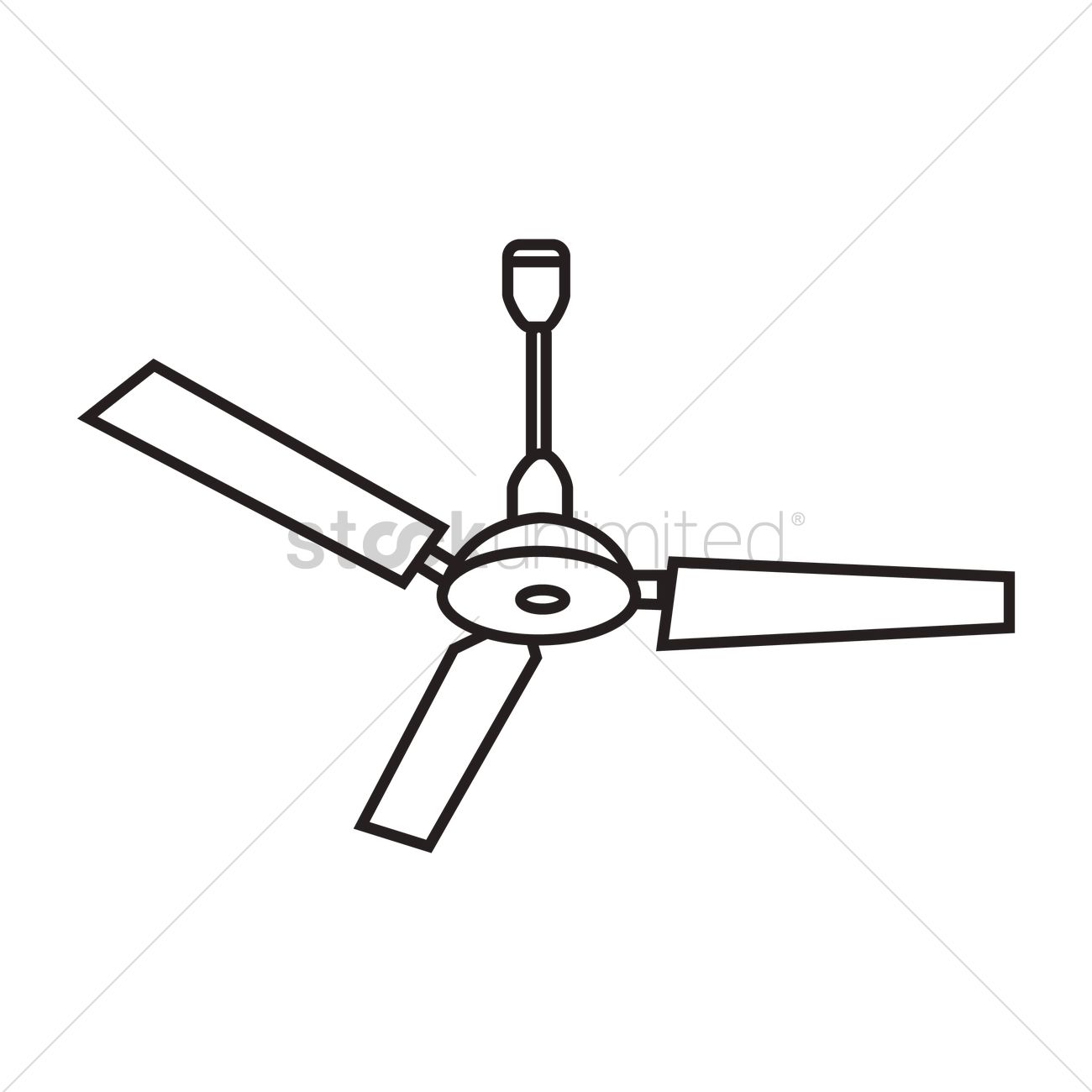 Ceiling Design Vector Ceiling Fan Vector Image 1467607 Stockunlimited