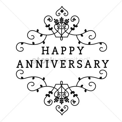 Happy anniversary greeting text Vector Image - 1524971 ...