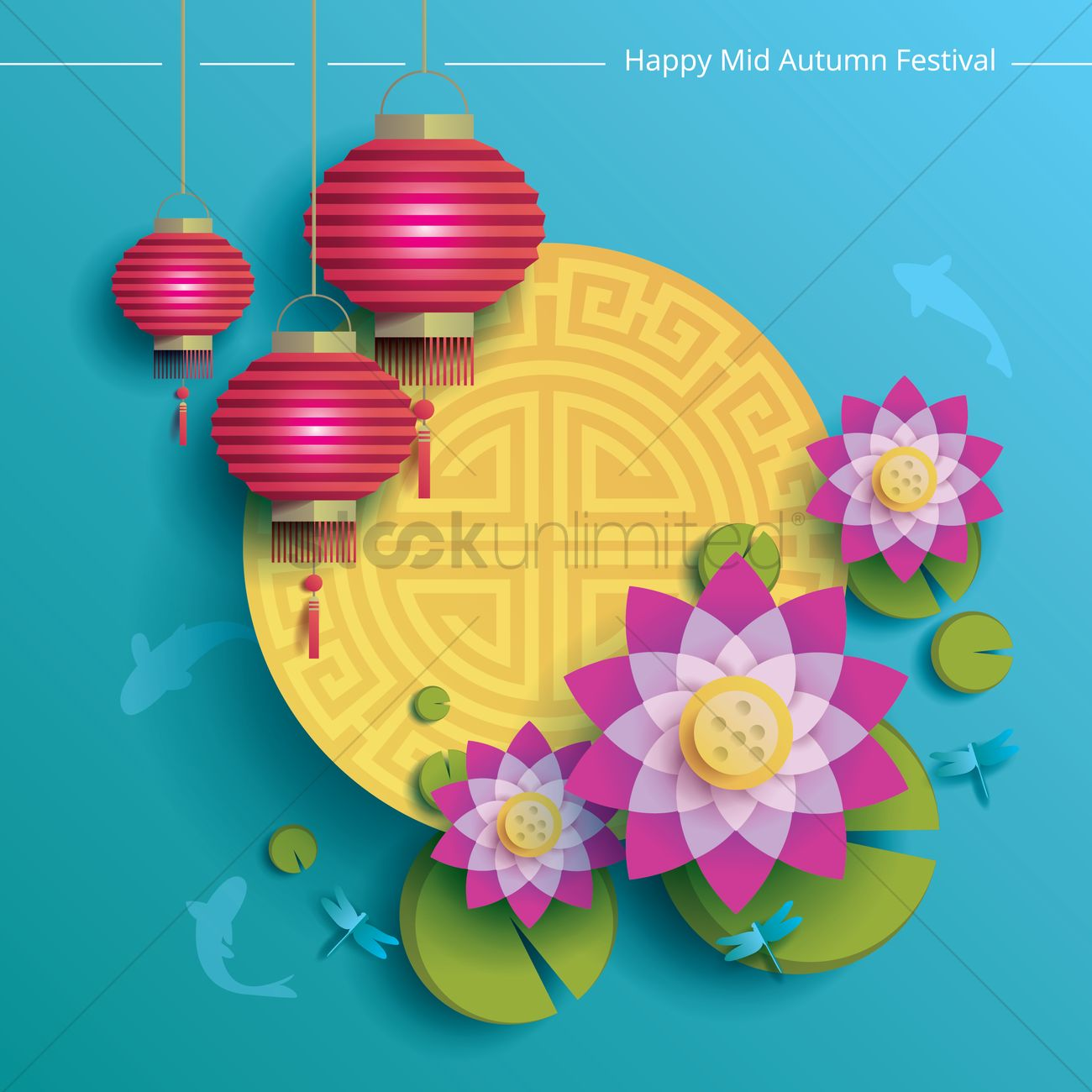 Free Fall Season Wallpapers Happy Mid Autumn Festival Background Vector Image