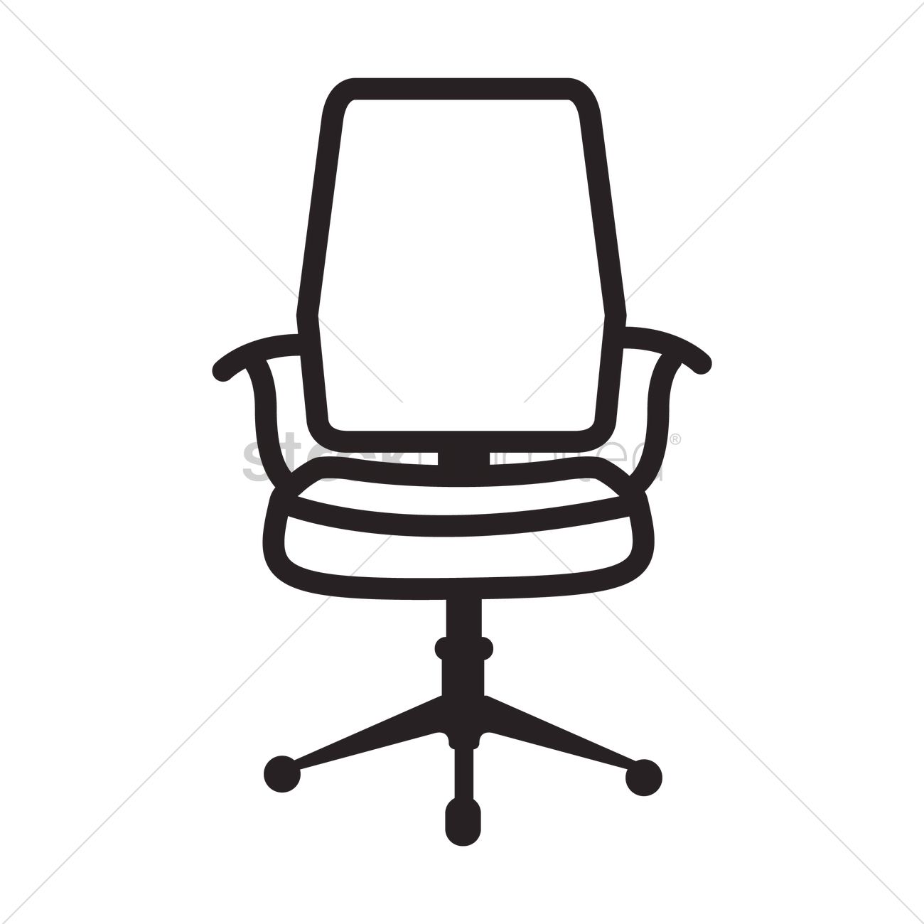 White And Black Office Chair Office Chair Icon Vector Image 1525499 Stockunlimited