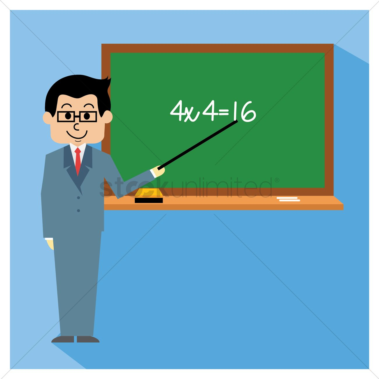 Teaching Maths Teacher Teaching Maths Vector Image 1317667 Stockunlimited