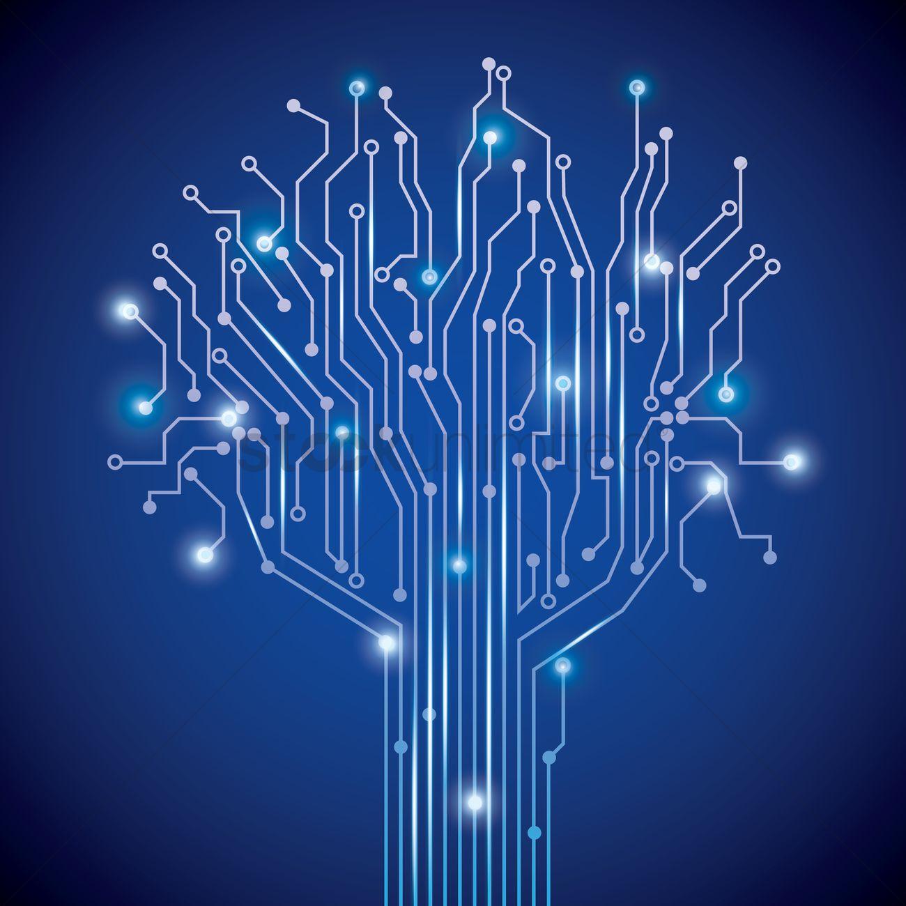 Download Iphone X Live Wallpaper Tree Design On Circuit Board Wallpaper Vector Image