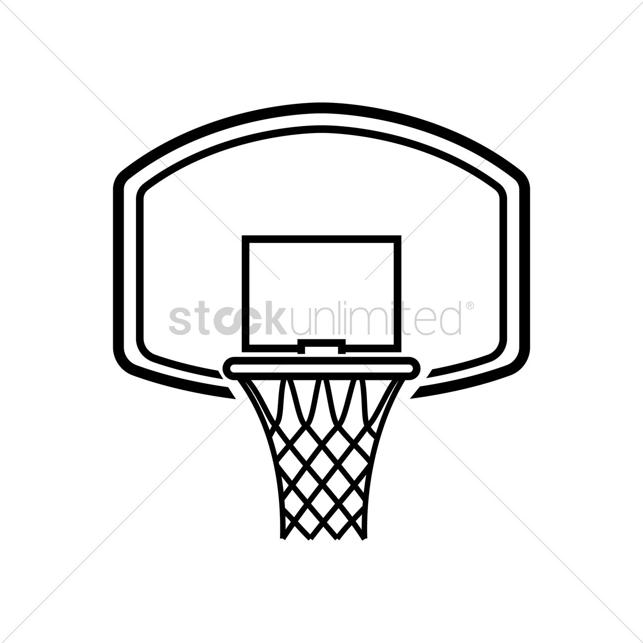 Basketball Ring Target Basketball Hoop Vector Image 1979496 Stockunlimited