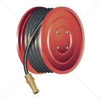 Fire hose reel Vector Image - 1806588 | StockUnlimited