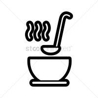 Soup bowl with ladle Vector Image - 1538376 | StockUnlimited