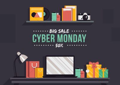 Cyber monday big sale wallpaper Vector Image - 1586157 | StockUnlimited