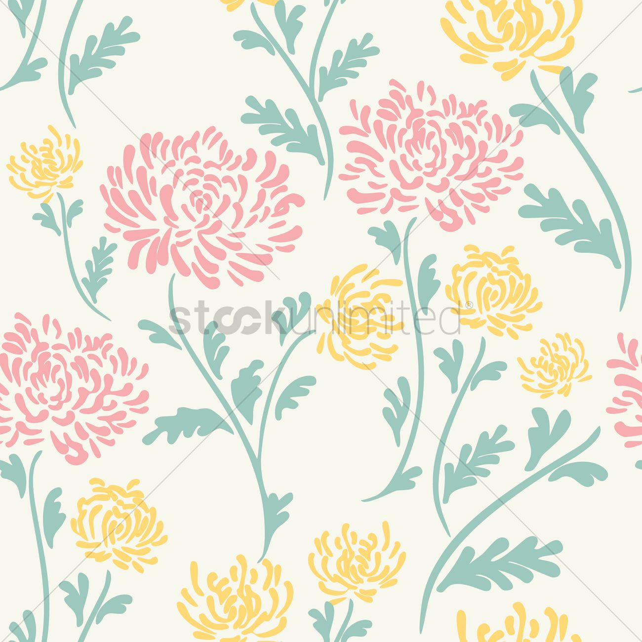 Fall Wallpaper Border Floral Background Design Vector Image 1995473