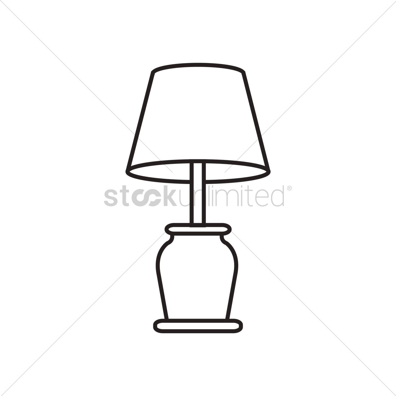 Table Lamp Drawing Image Table Lamp Vector Image 1465673 Stockunlimited