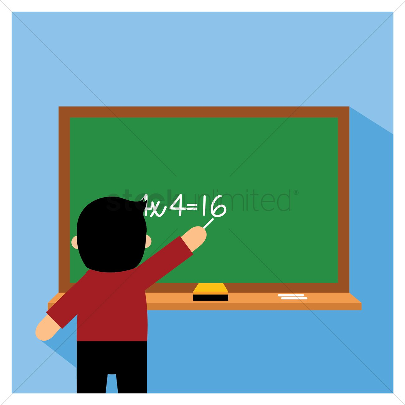 Teaching Maths Teacher Teaching Maths Vector Image 1281009 Stockunlimited