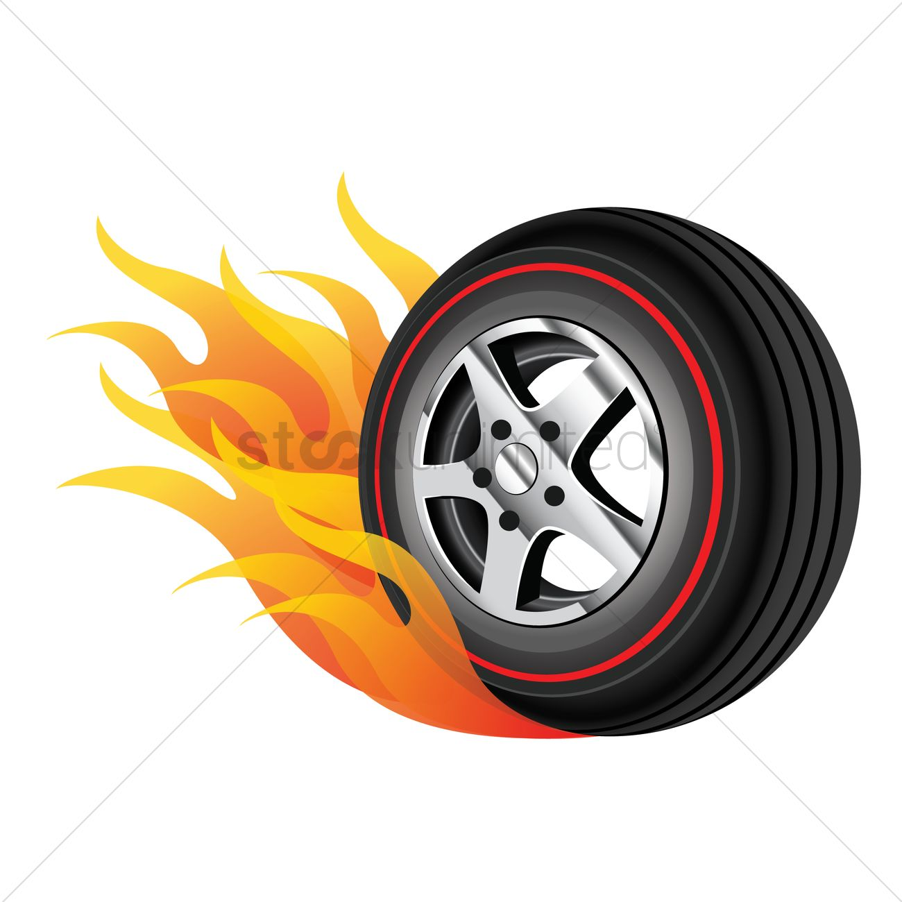 Racing Car Hd Wallpaper Free Download Tyre On Fire Vector Image 1444797 Stockunlimited