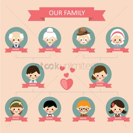 Free Relation Stock Vectors StockUnlimited - family relation tree