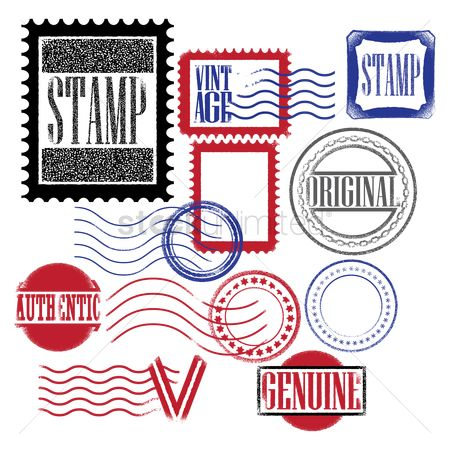 Free Postage Stamp Template Stock Vectors StockUnlimited