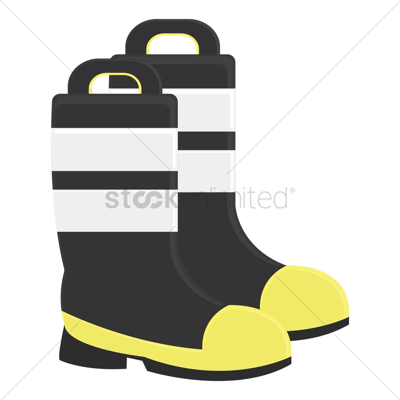 Firefighter Boots Vector Image 1364114 Stockunlimited