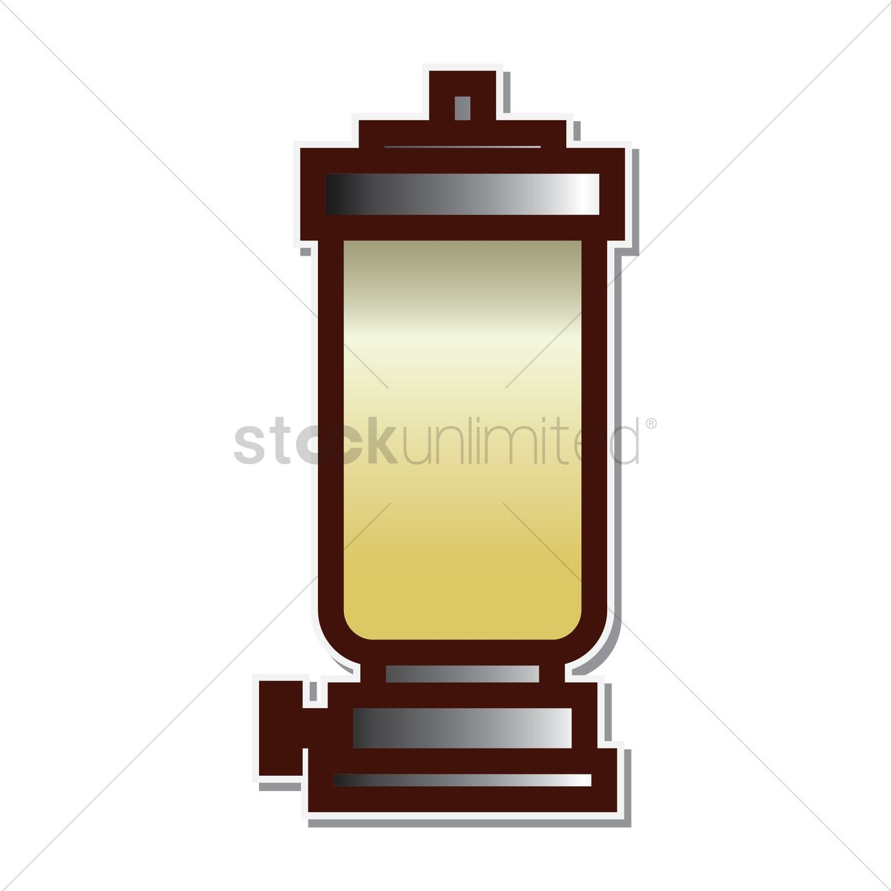 Glass Lamp Vector Kerosene Lamp Vector Image 1951162 Stockunlimited