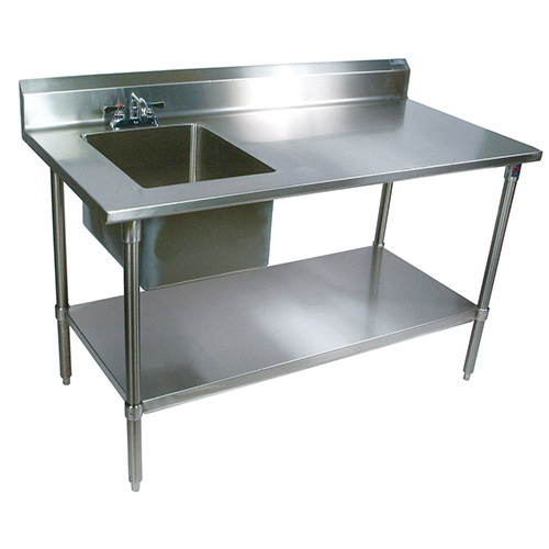 John Boos Ept6r5 3060ssk L Stainless Steel Prep Table With