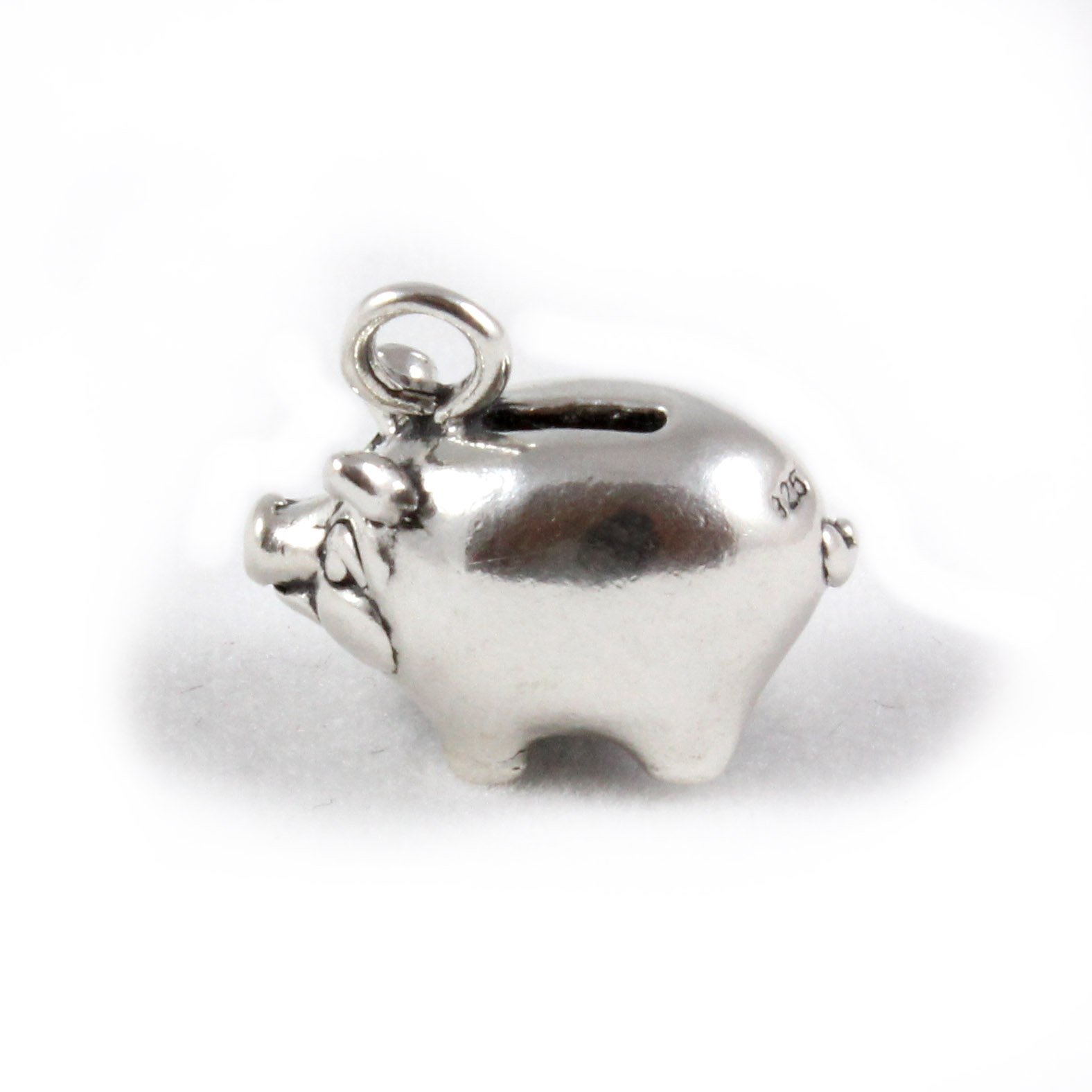 Silver Piggy Bank For Baby Piggy Bank Charm Sterling Silver Charms Money Ebay