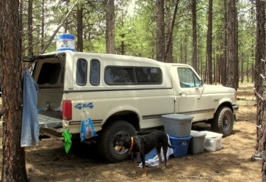 Boondocking-pickup-shell