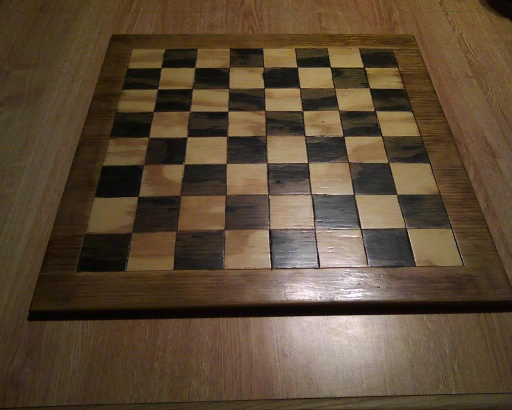 Diy Wood Chess Board Homemade Chess Board Chess Forums Chess