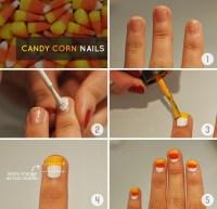 Halloween DIY Tutorial: Candy Corn Nail Art