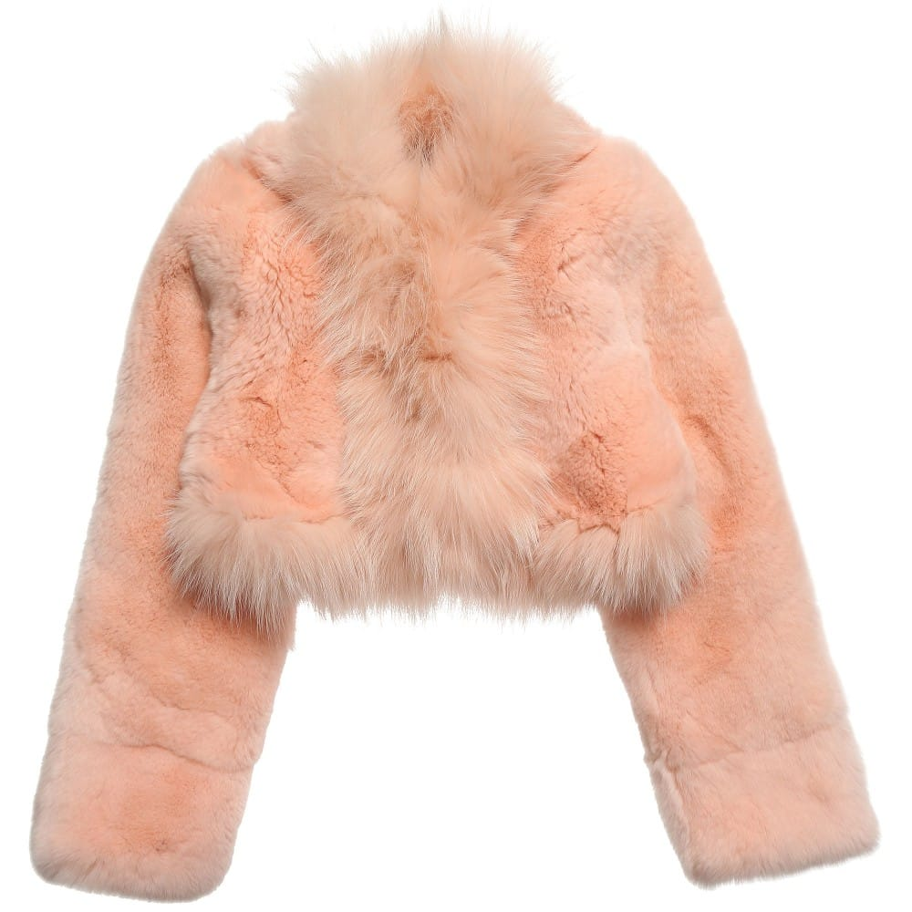 Baby Newborn Jumper Quis Quis Girls Pink Fur Bolero Jacket Children Boutique