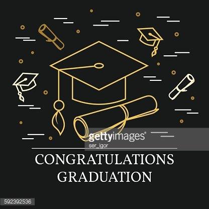 Congratulations Graduation Greeting Card premium clipart