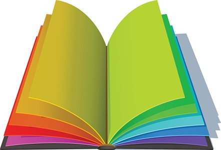 Opened Book With Colorful Pages premium clipart - ClipartLogo - opened book