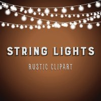 Rustic String Lights Background premium clipart ...