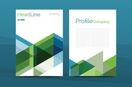 Business Annual Report Brochure Cover Vector Template premium