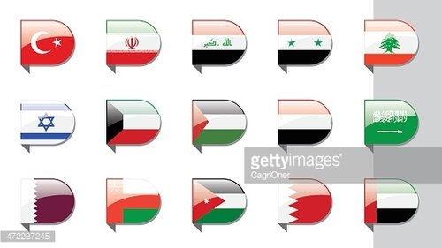 Ribbon Flags Middle East premium clipart - ClipartLogo