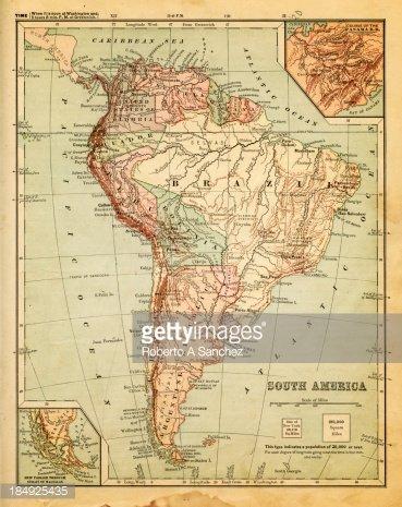 Eski Güney Amerika Haritası premium clipart - ClipartLogo